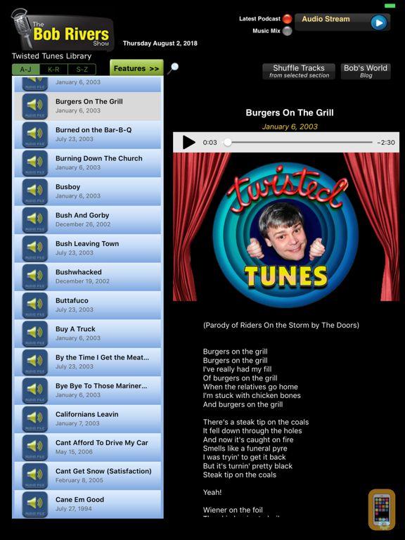 Screenshot - The Bob Rivers Show iPad Edition