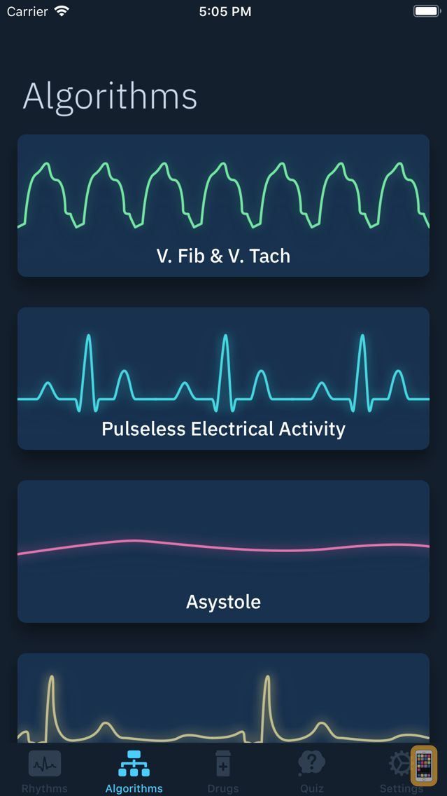 Screenshot - ACLS Rhythms and Quiz