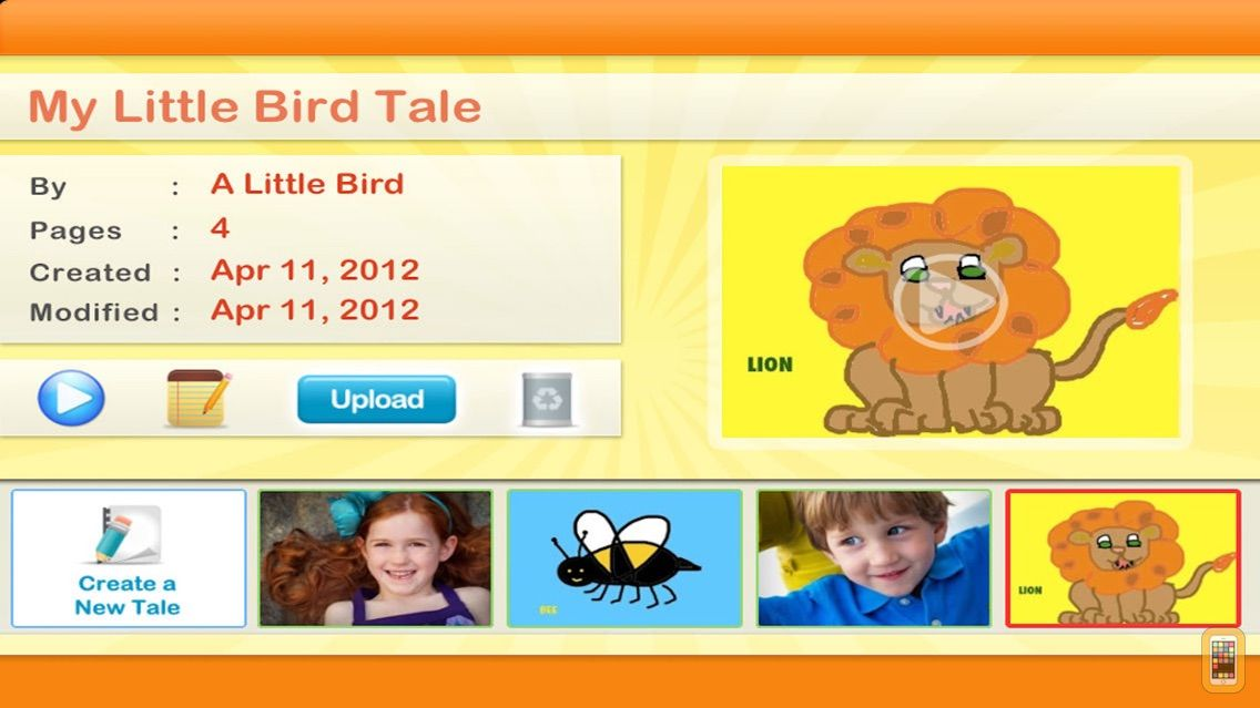 Screenshot - Little Bird Tales: Free Digital Storytelling, Presentations and Lessons with Audio for Kids