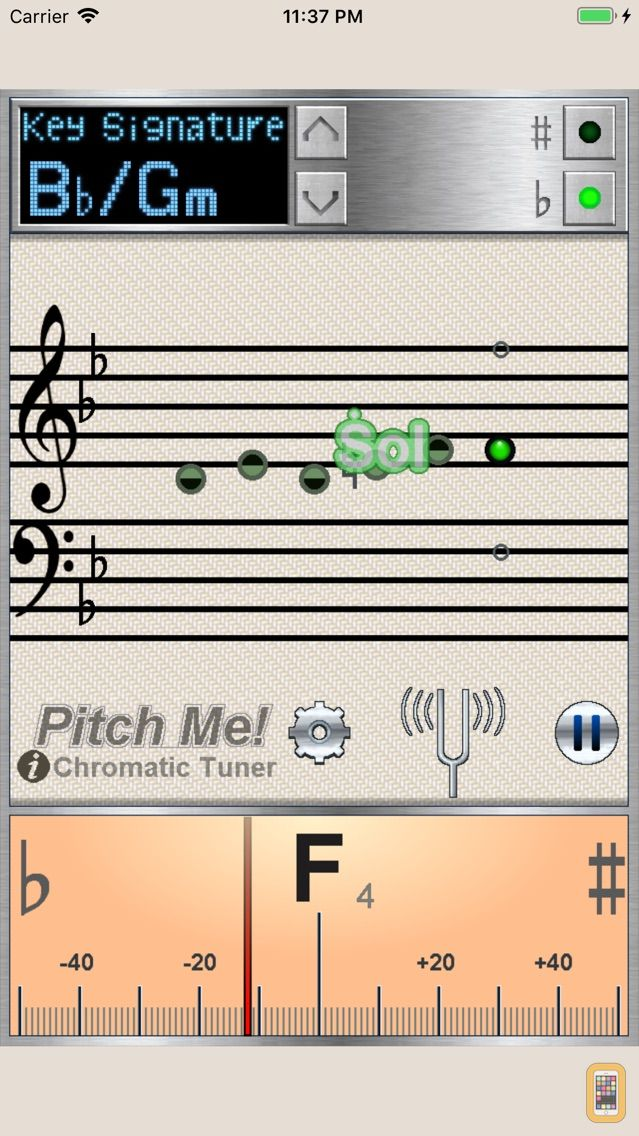 Screenshot - PitchMe - Chromatic Tuner