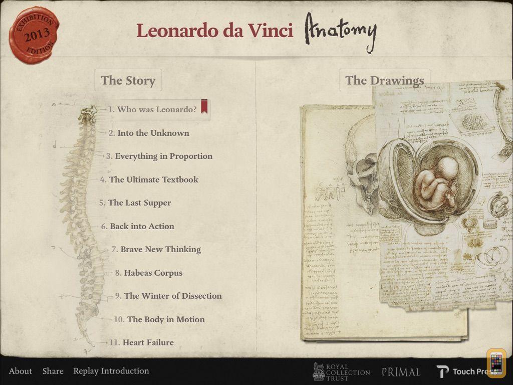 Screenshot - Leonardo da Vinci: Anatomy