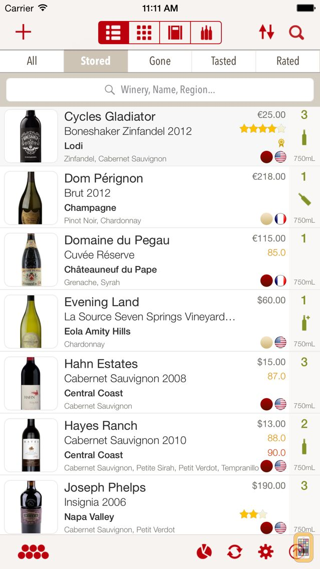 Screenshot - VinoCell - wine cellar manager