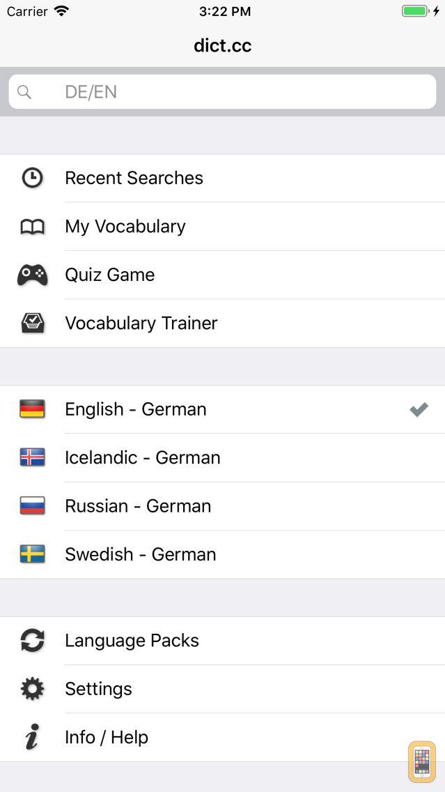 Screenshot - dict.cc+ Dictionary