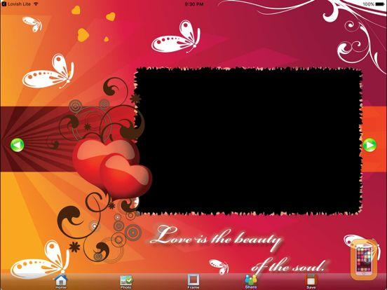 Screenshot - Lovish Free (Photo Frames for iPad)