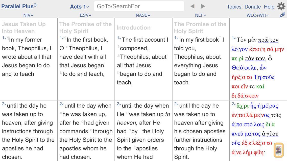 Screenshot - PARALLEL PLUS Bible-study app