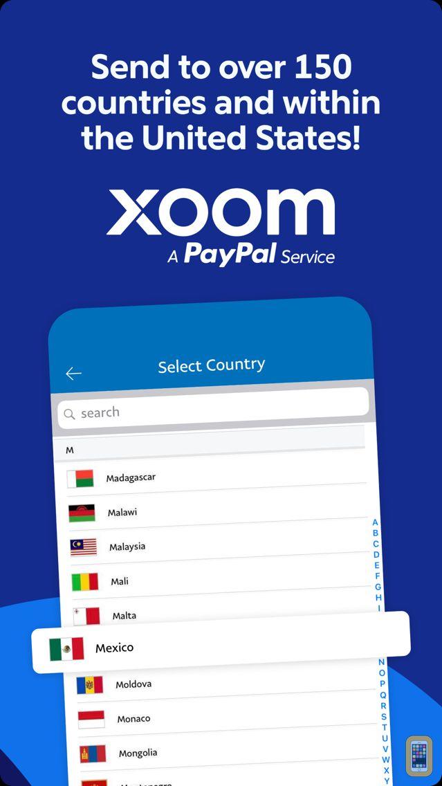 Screenshot - Xoom Money Transfer
