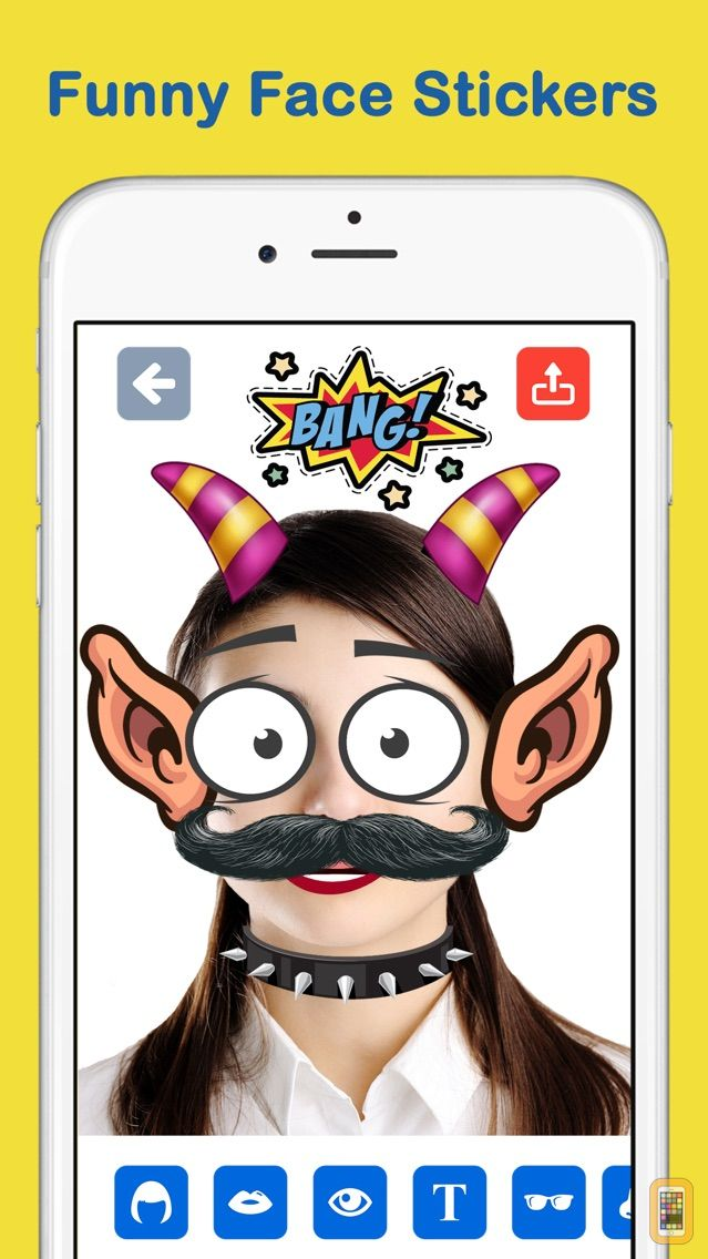 Screenshot - PicToony Funny Photo Face Stickers & Text Editor