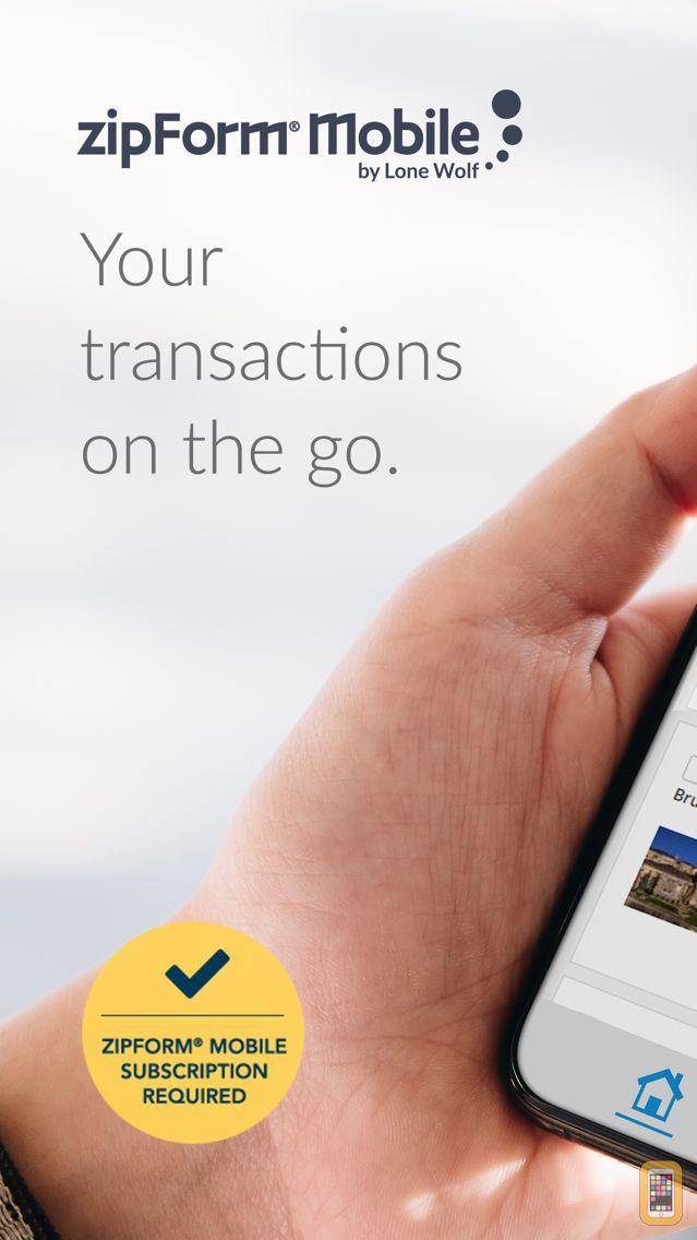 Screenshot - zipForm® Mobile Companion