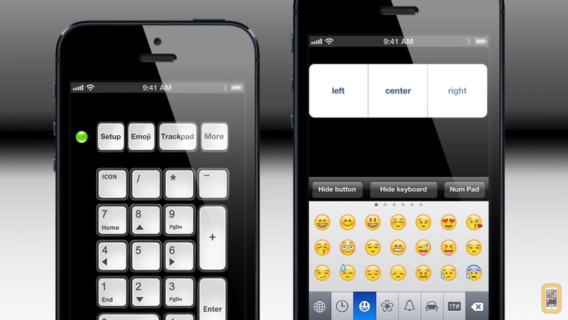 Screenshot - Number Pad - Wireless Numeric Keypad, Numpad and Mouse Trackpad