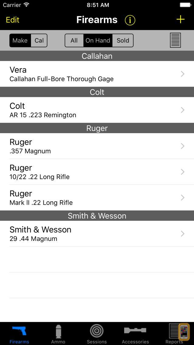 Screenshot - Gun Log SPC
