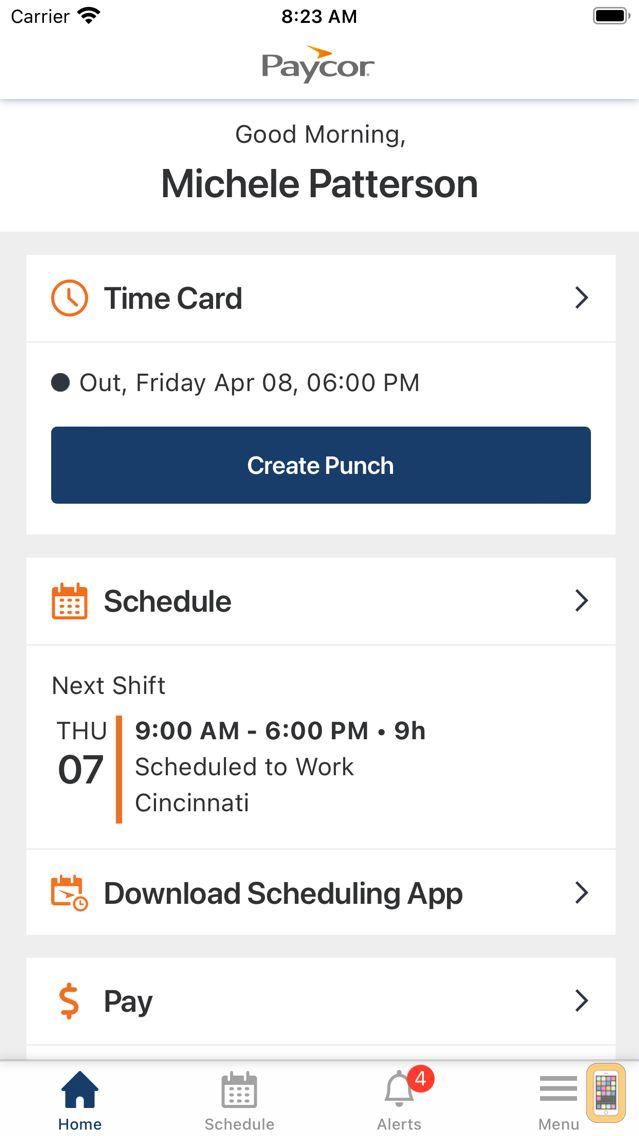 Screenshot - Paycor Mobile