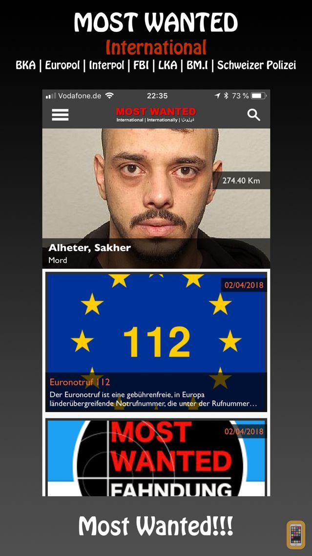 Screenshot - Most Wanted App