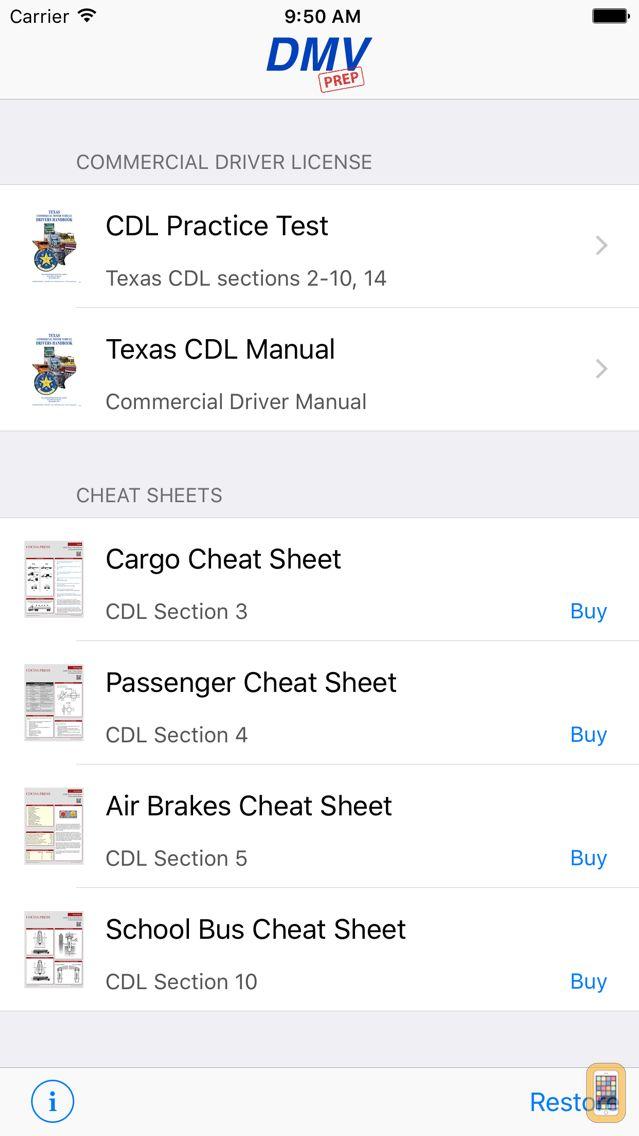 Screenshot - Texas CDL Test Prep