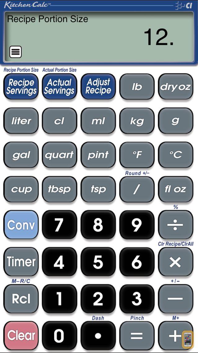 Screenshot - KitchenCalc Pro Culinary Math
