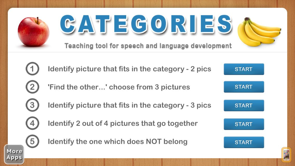 Screenshot - Categories from I Can Do Apps