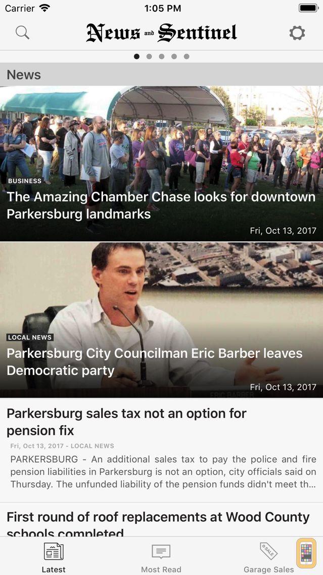 Screenshot - Parkersburg News and Sentinel