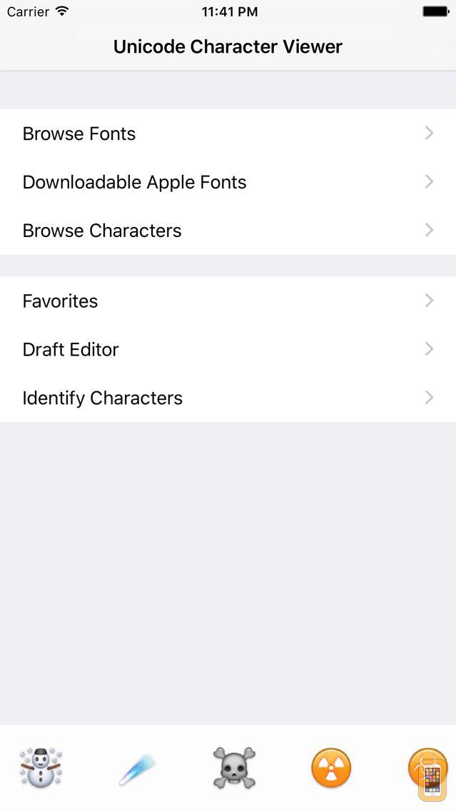 Screenshot - Unicode Character Viewer