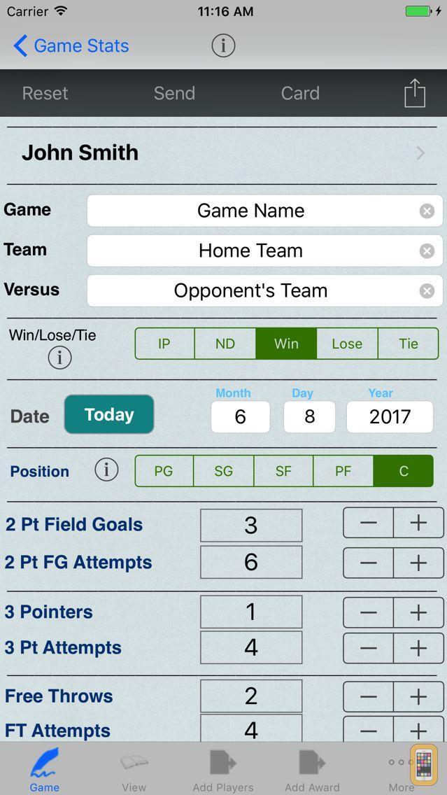Screenshot - Basketball Player Stat Tracker