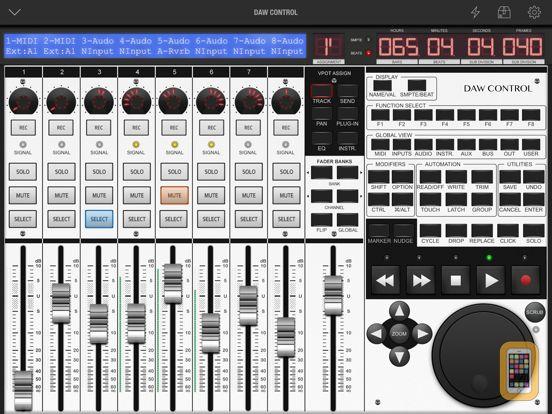 Screenshot - DAW Control