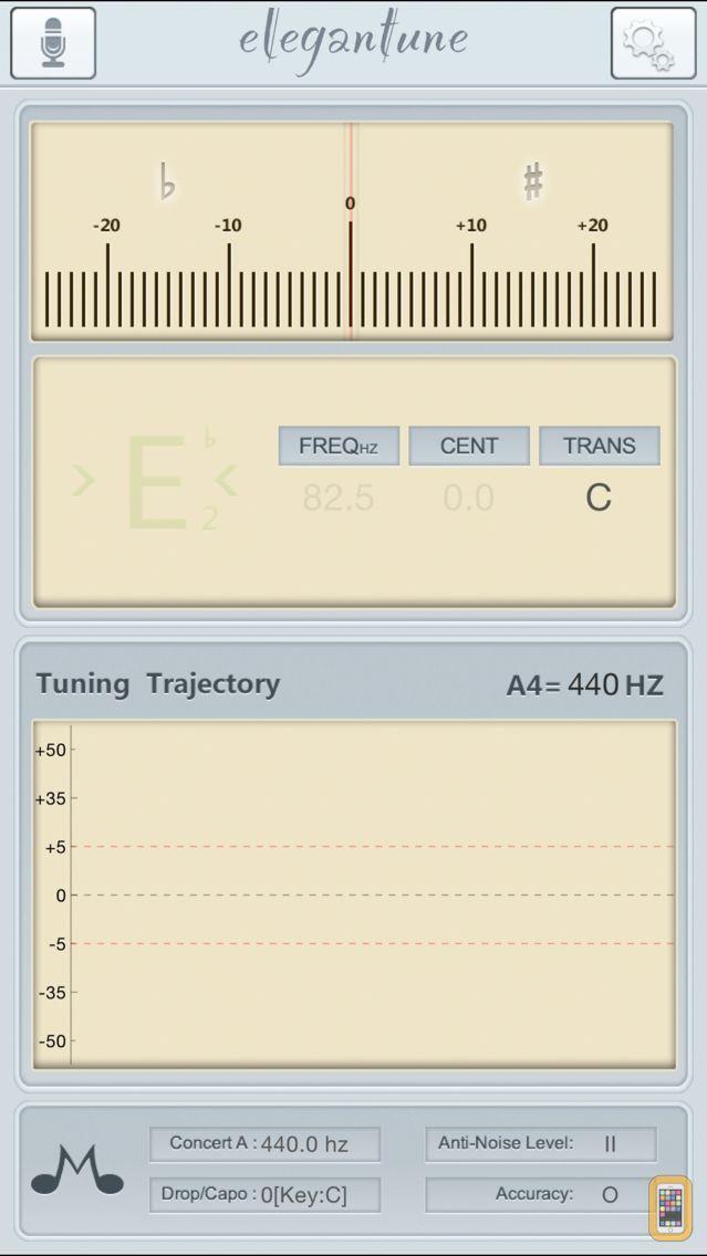 Screenshot - Elegantune Pro Chromatic Tuner
