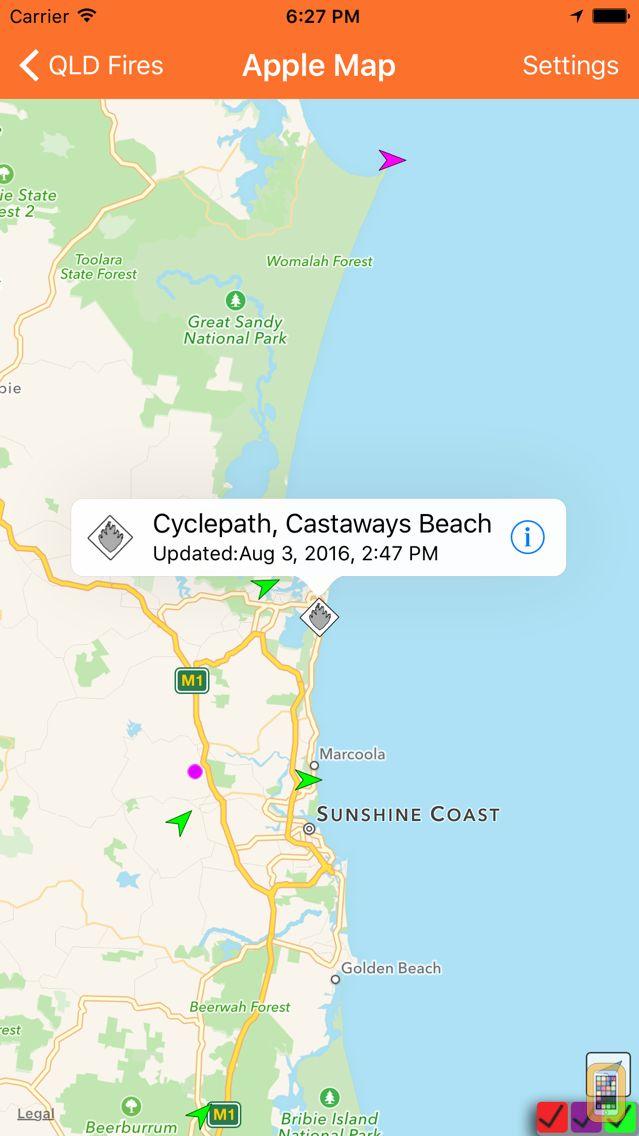 Screenshot - QLD Fires