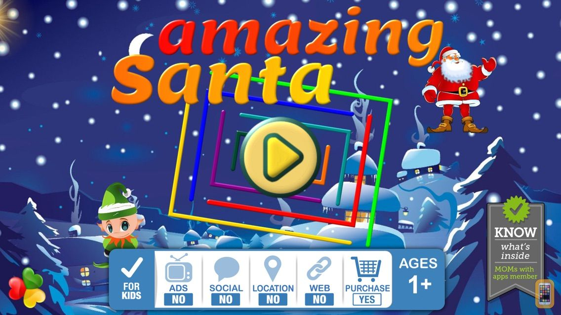 Screenshot - Amazing Santa - Christmas Gift - HD Maze learning games for kids and toddler