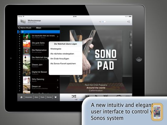 Screenshot - SonoPad for Sonos