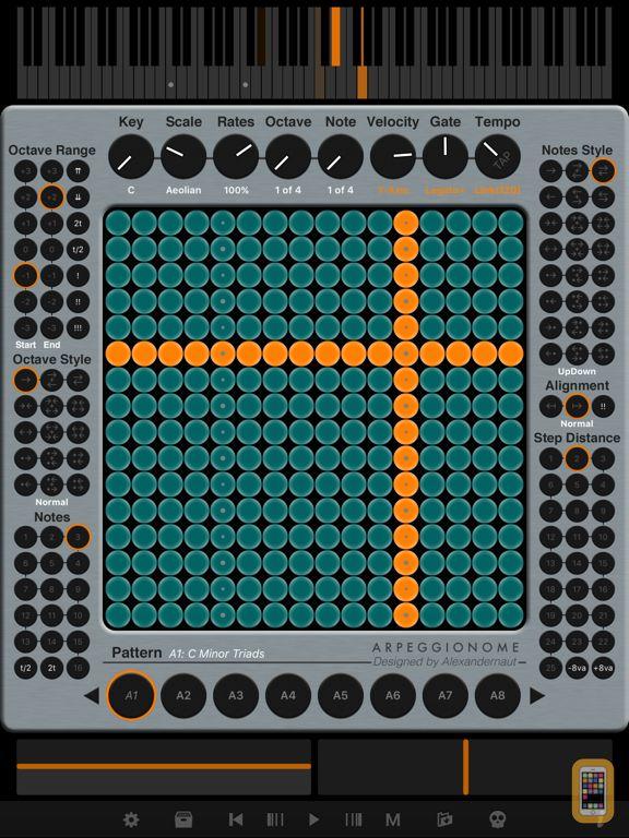 Screenshot - Arpeggionome Pro | matrix arpeggiator