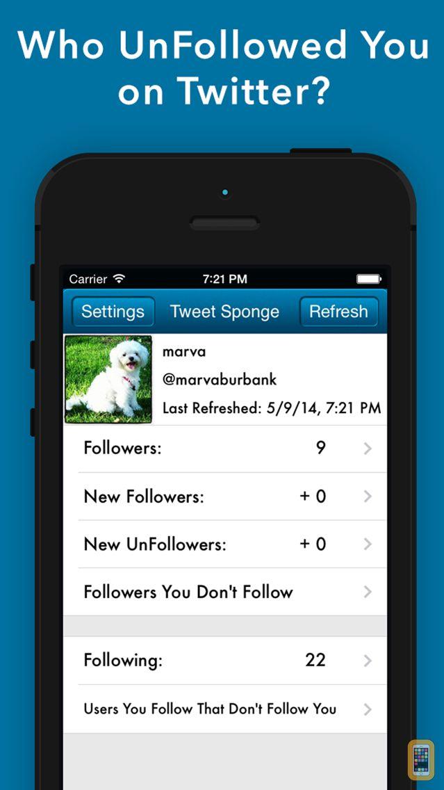 Screenshot - Tweet Sponge - UnFollow Stats