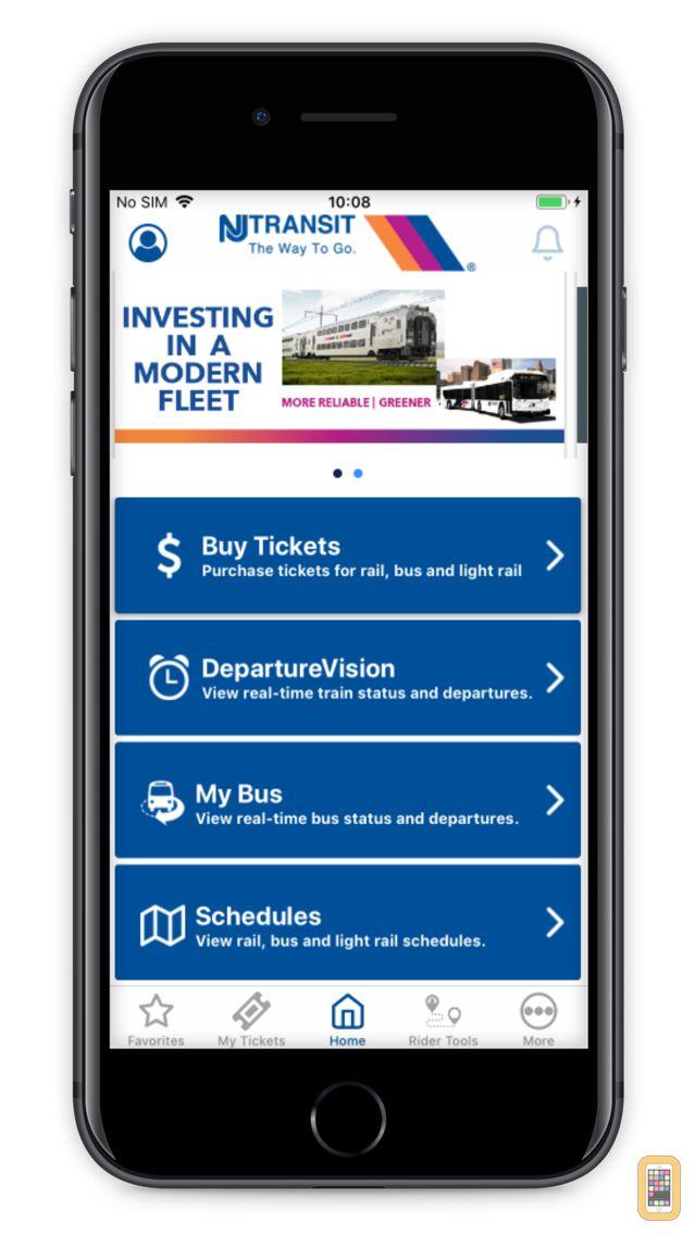 Screenshot - NJ TRANSIT Mobile App