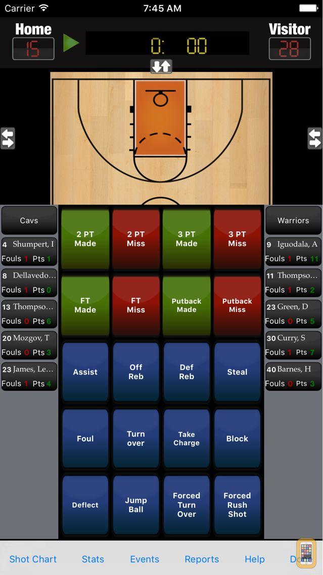 Screenshot - Breakthrough Stats - Basketball Stats & Scoring