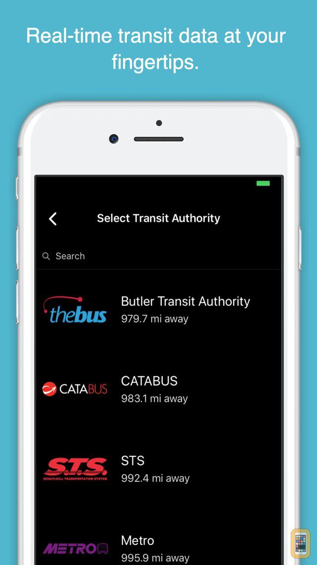 Screenshot - myStop Mobile