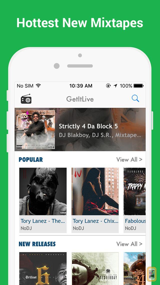 Screenshot - GetItLive - rap/hiphop livemixtapes & radio