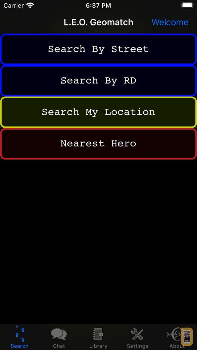 Screenshot - LEO Geomatch