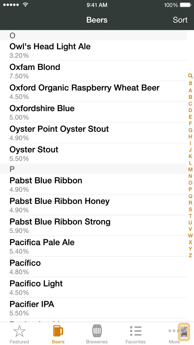 Screenshot - Any Beer ABV