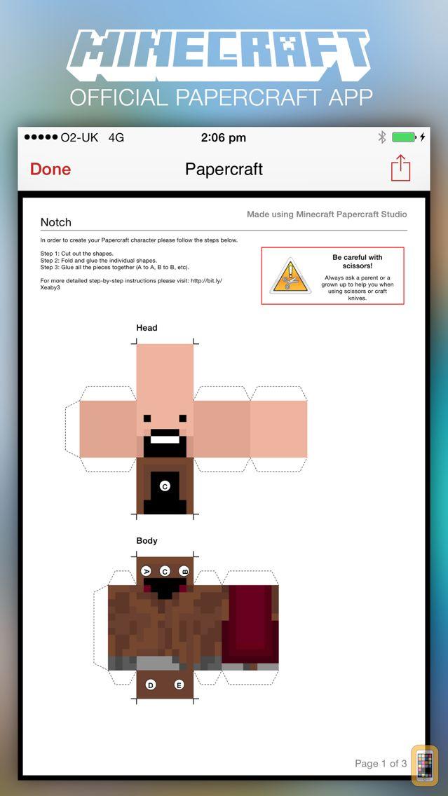 Screenshot - Minecraft: Papercraft Studio