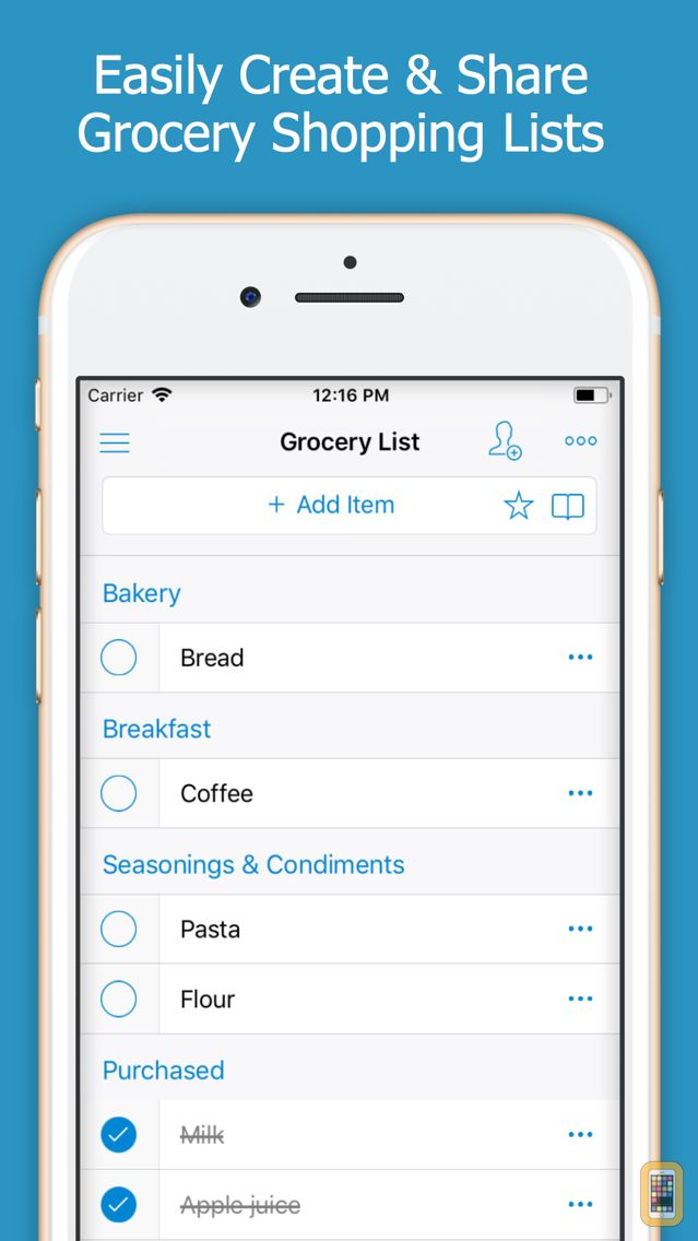 Screenshot - Shoppylist Pro (Grocery List)