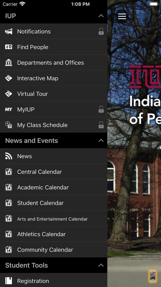 Screenshot - IUP Mobile