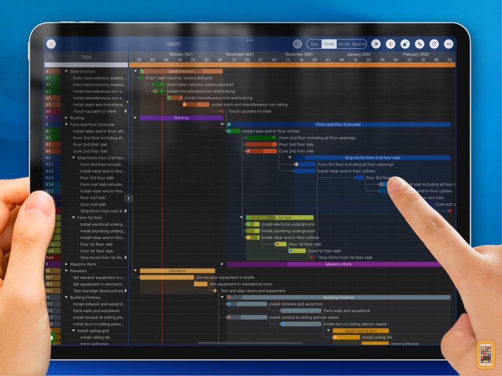Screenshot - QuickPlan, Project Gantt Chart