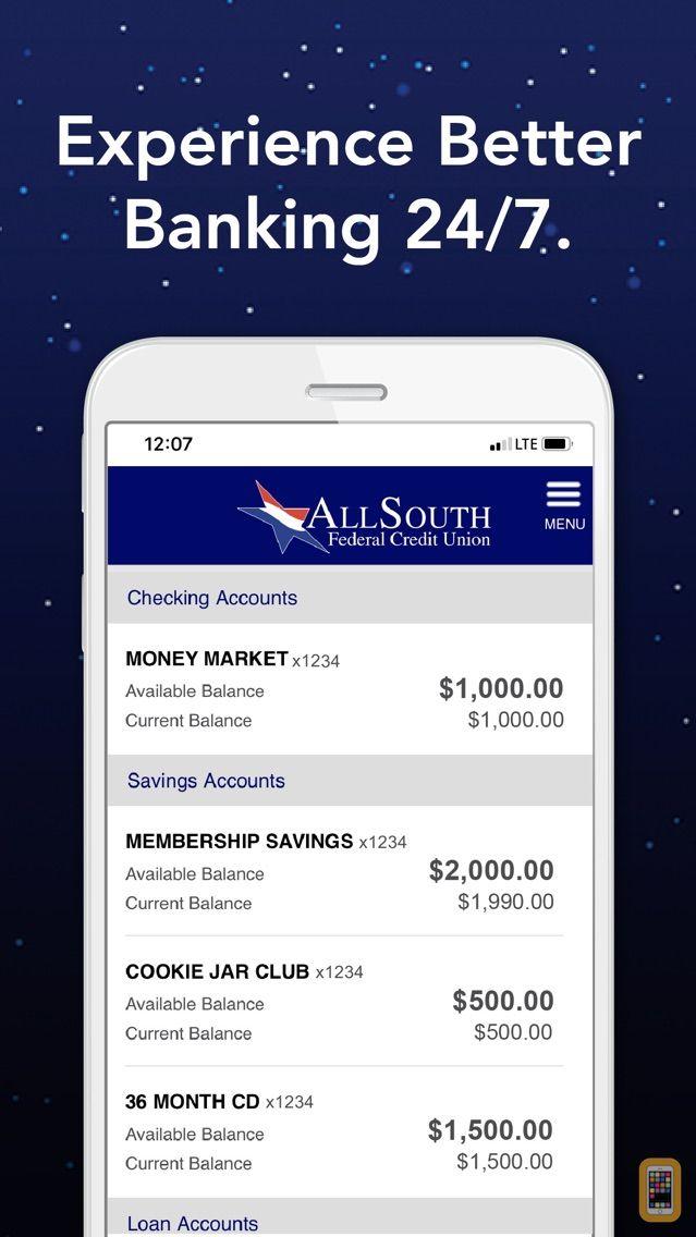 Screenshot - AllSouth Mobile Banking