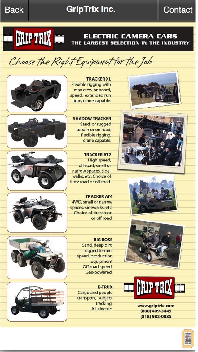 Screenshot - Grip 411 Equipment and Crew Directory