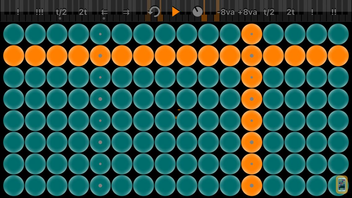 Screenshot - Arpeggionome for iPhone | matrix arpeggiator