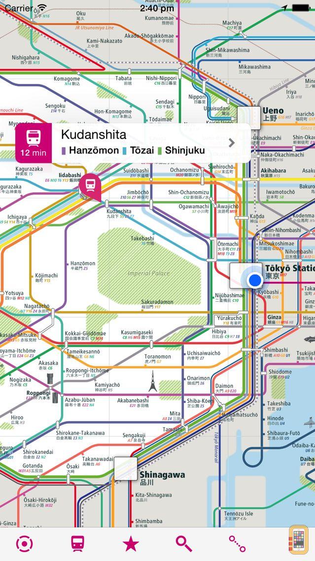 Screenshot - Tokyo Rail Map+ Lite • Yokohama, Saitama, Chiba