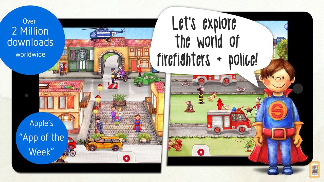 Screenshot - Tiny Firefighters - Kids' App