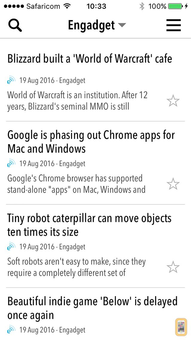 Screenshot - NewsBar RSS reader