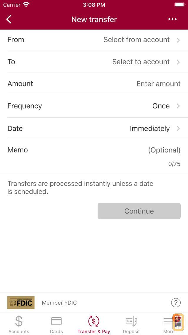 Screenshot - Colony Bank Mobile
