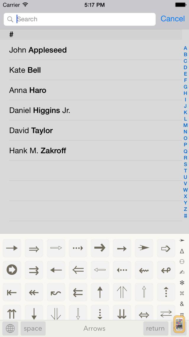 Screenshot - Symbols - unicode keyboard