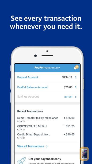 Screenshot - PayPal Prepaid