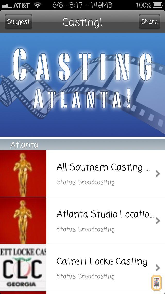 Screenshot - Casting ATL - Local casting calls for extras, actors, models, dancers, musicians, interns, and crew in Atlanta Georgia.