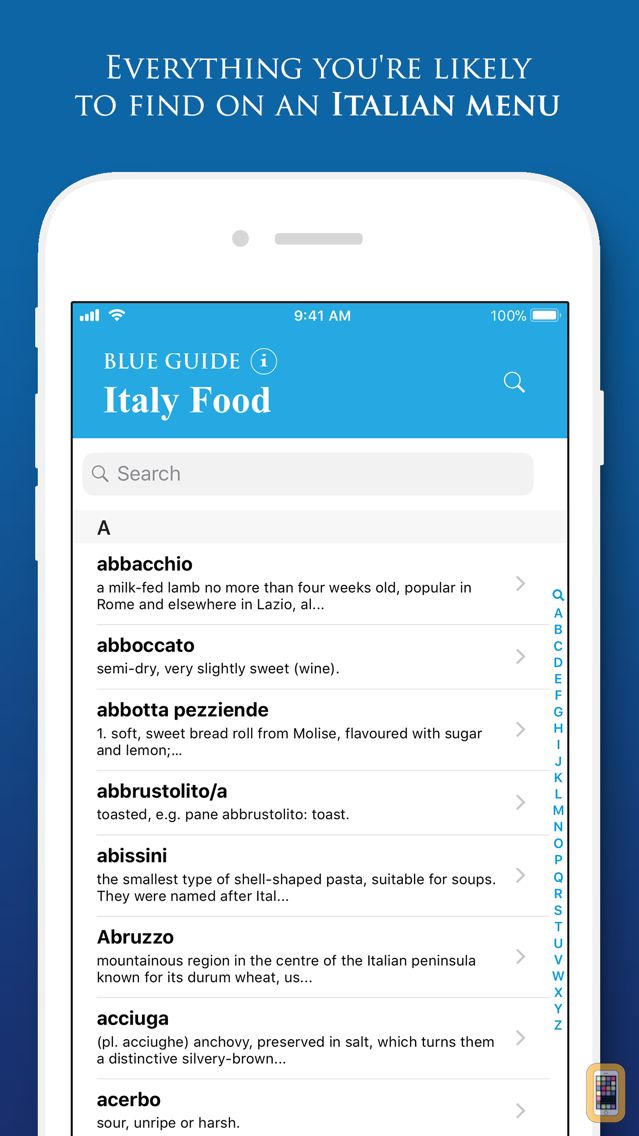 Screenshot - Italy Food by Blue Guides